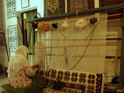 El arte de tejer alfombras en Tunez