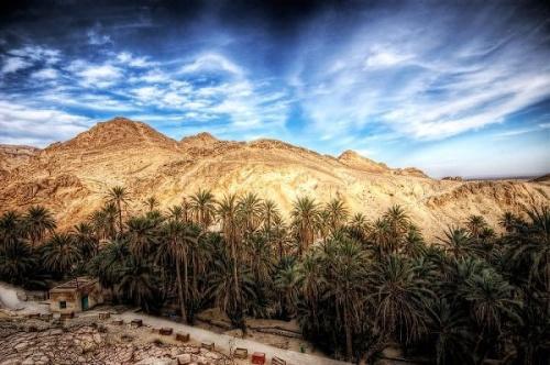 El cañón de Chebika, una cascada en el desierto