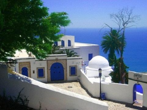 Sibi Bu Said, paraíso en blanco y azul