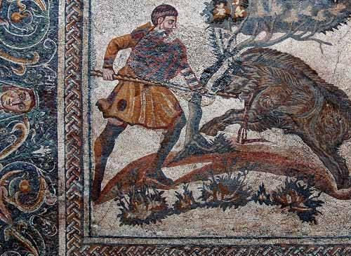 Mosaico de la caza